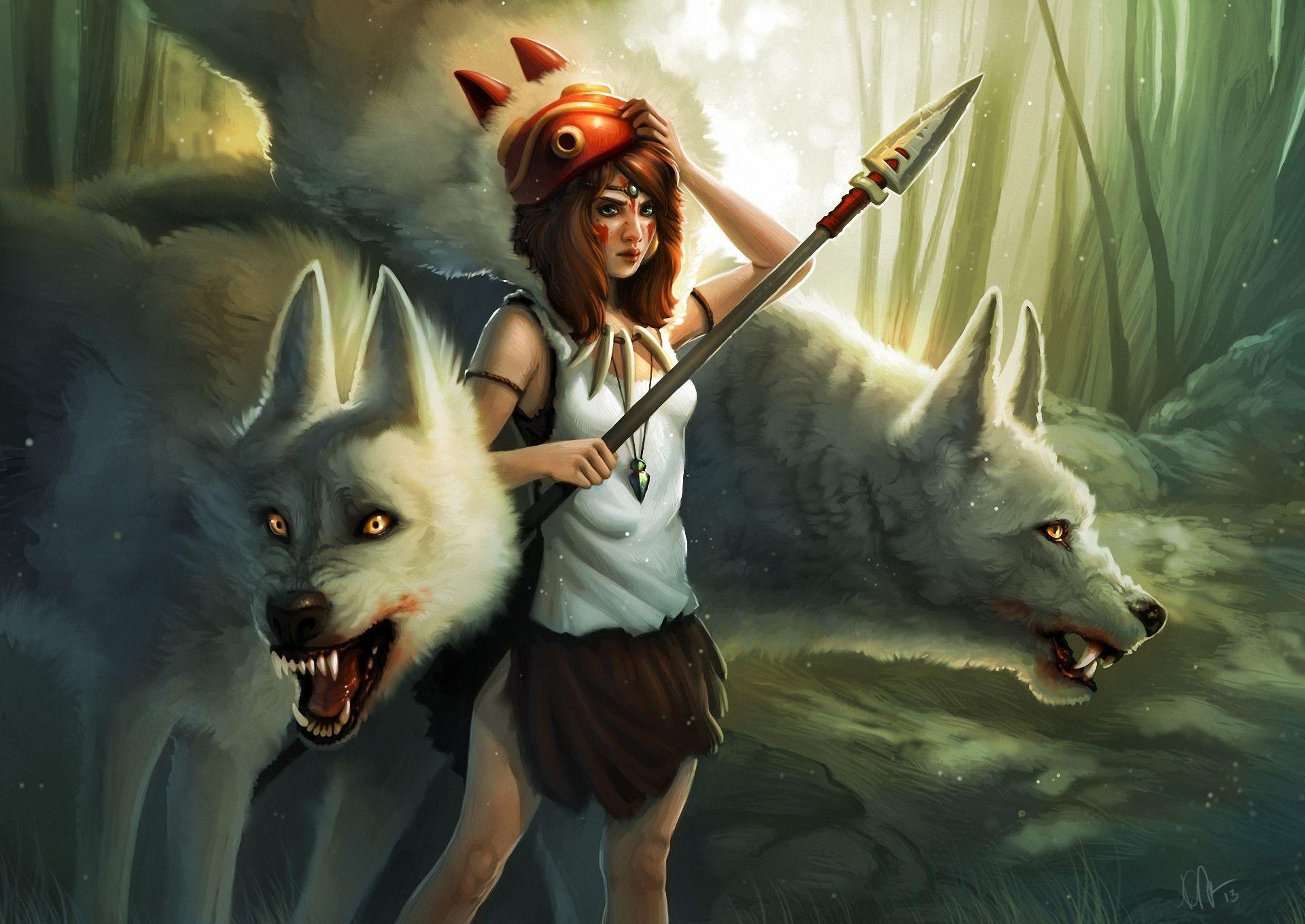 Cute Fantasy Creatures Cute Girl With Animals Fantasy