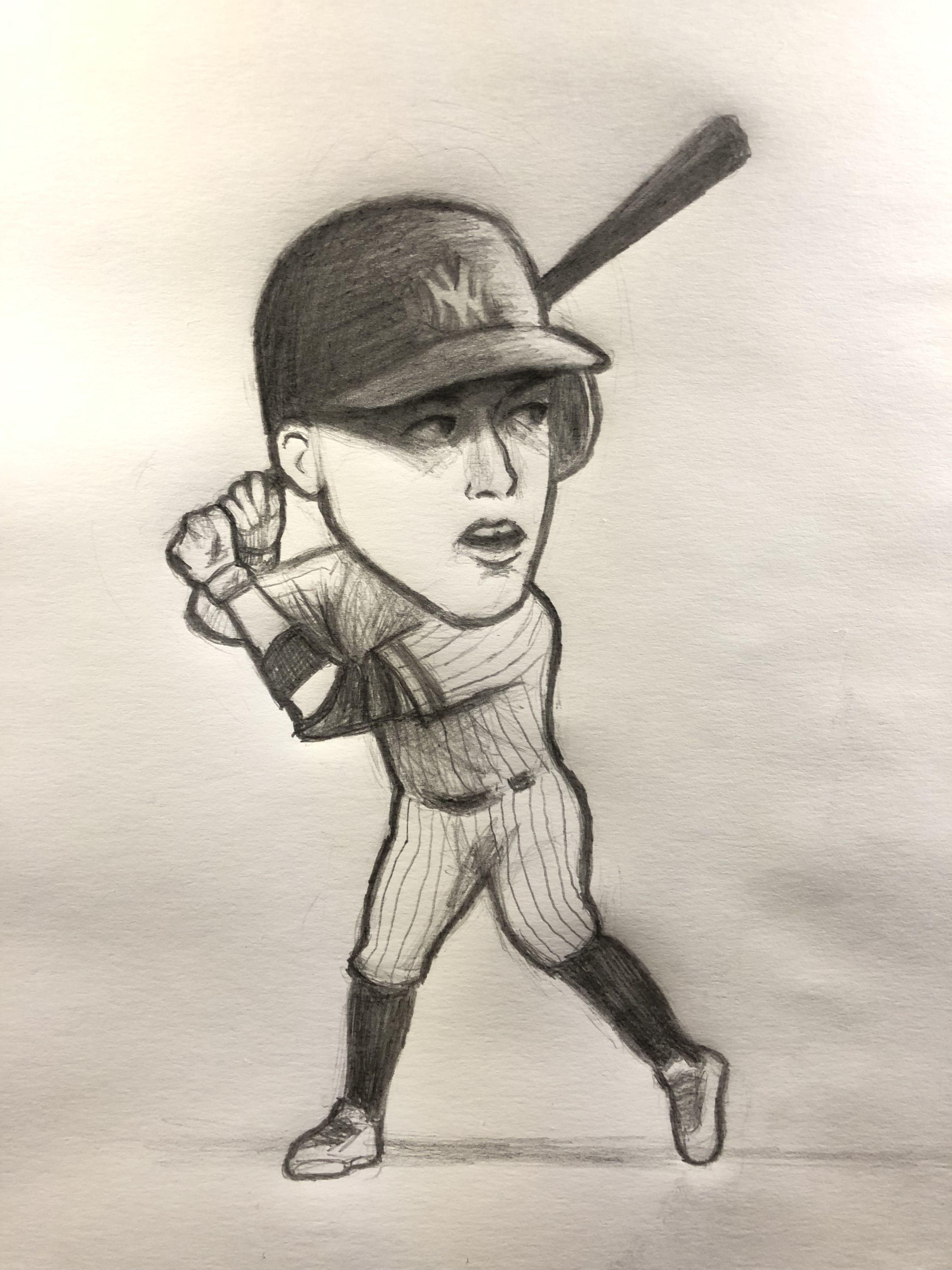 Yankee Doodle Baseball Drawings Cartoon Drawings Sketches