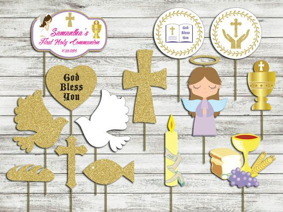 first holy communion photo props digital file girl by htcknit