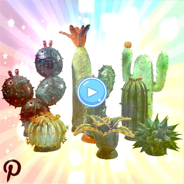 Studio ceramic collection of eight different cactus beautifully individually crafted via A set of A Studio ceramic collection of eight different cactus beautifully indivi...