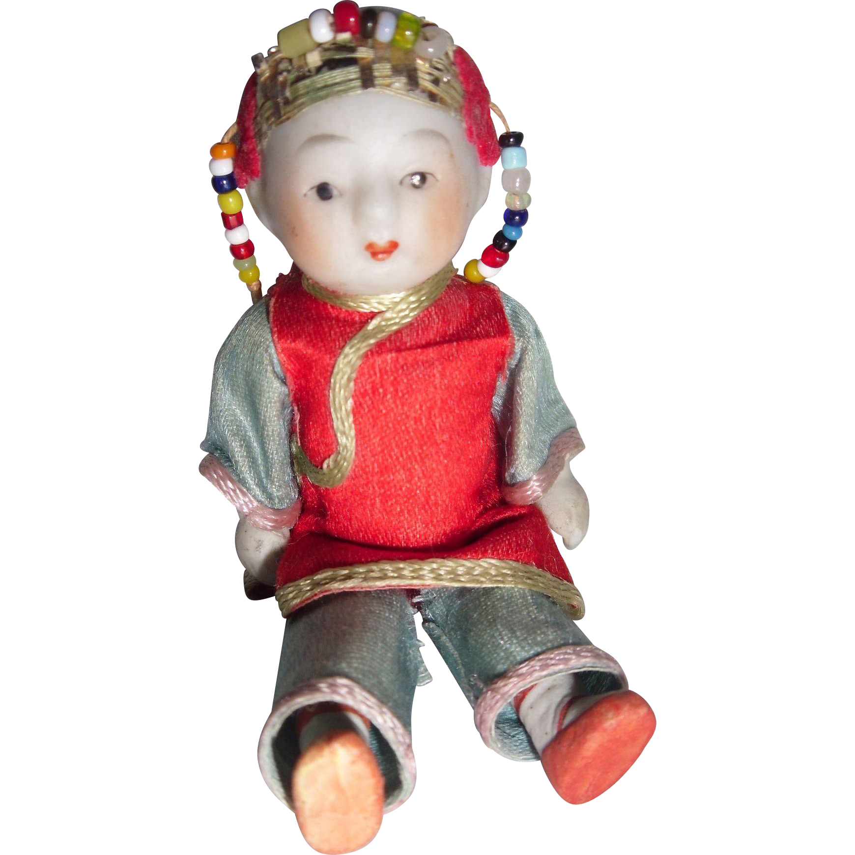 Small Chinese Boy Costume Doll Boy Costumes Doll Clothes Vintage Dolls