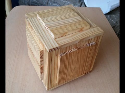 Wooden puzzle boxes with two secret compartments - YouTube