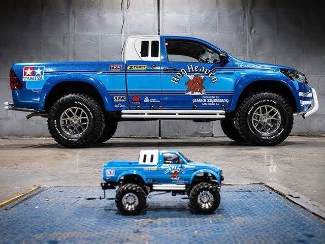 Toyota Creates Full-Size Tribute To The Classic Bruiser RC Car You won't be allowed to play with it, unfortunately. Back in 1985, Japanese toy company Tamiya produced a radio-controlled scale model replica of the Toyota Hilux truck. It proved to be hugely popular and was advanced for its time, featuring a four-wheel ...