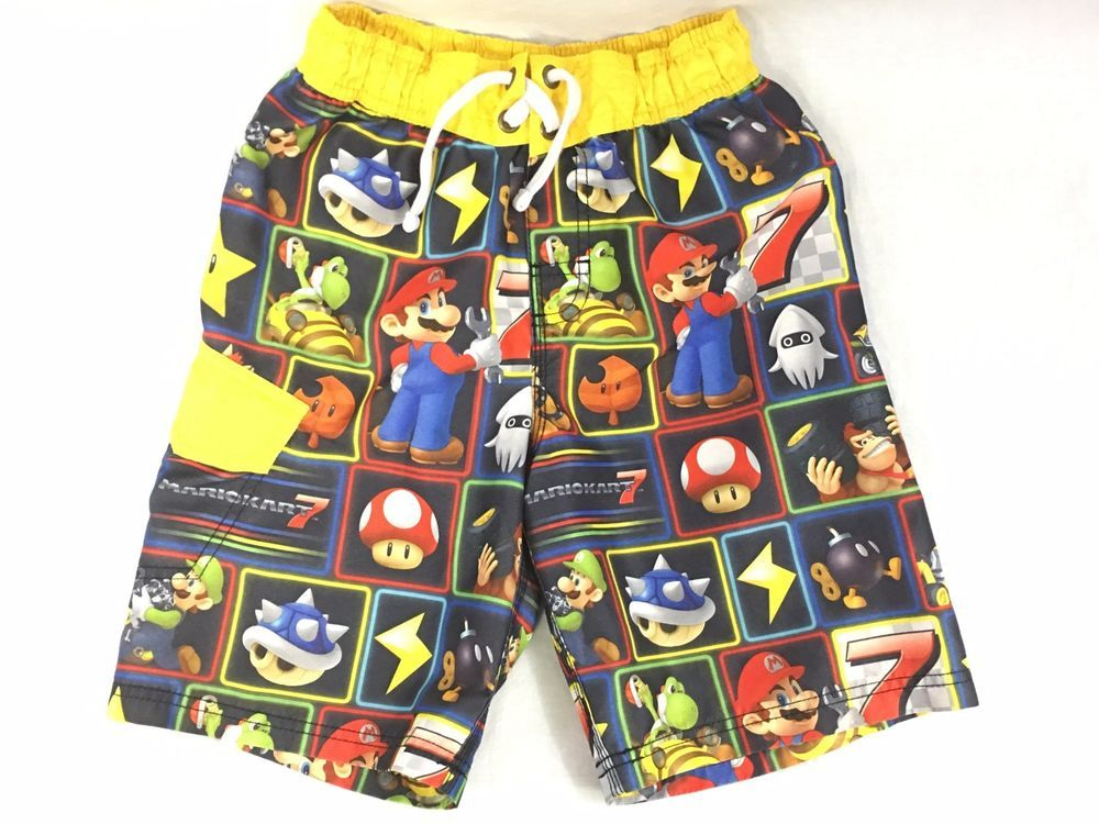 150bb09803 Official Nintendo Super Mario Brothers Swim Trunks Boys 8 Luigi Toad Donkey  Kong #Nintendo #SwimShorts