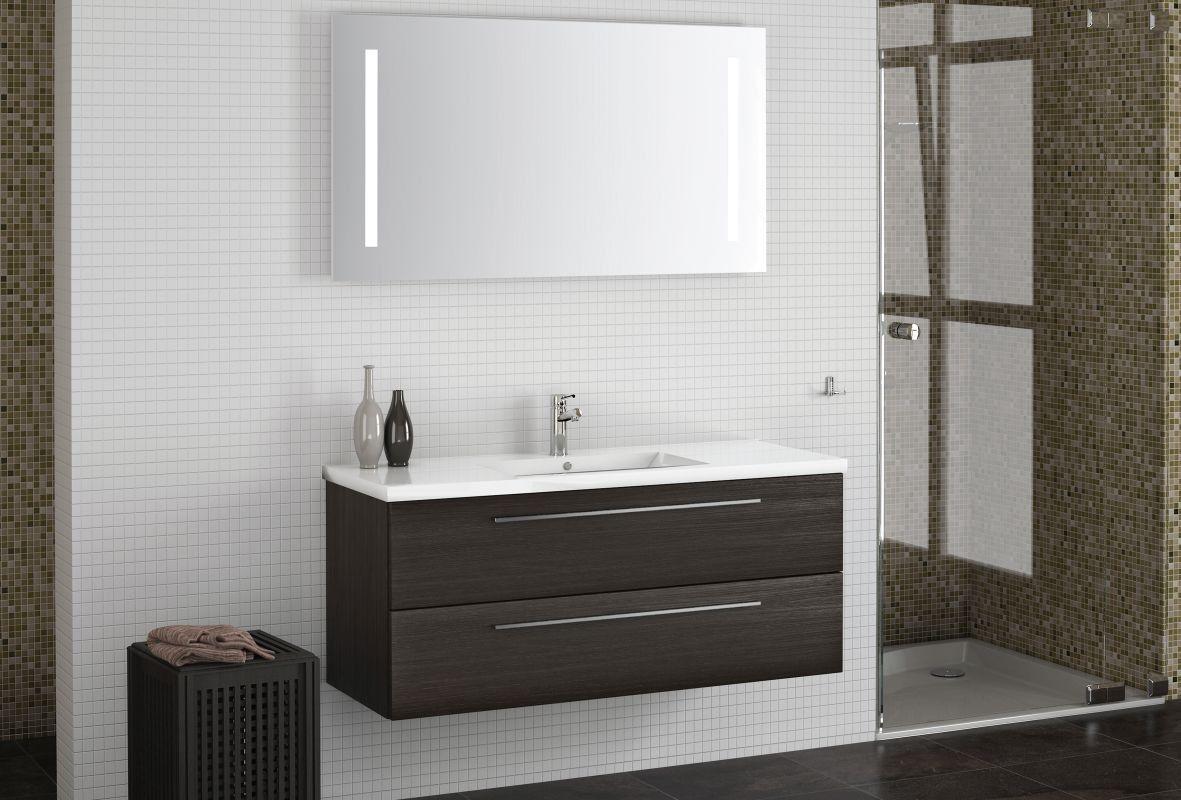 Badezimmermobel Set Cy Rajkot 2 Teilig Inkl Waschtisch Waschbecken Farbe Eiche Schwarz Waschbecken Diy Mobel Tisch Badezimmermobel Set