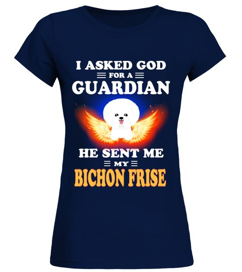 # God Sent Me My BICHON FRISE .  HOW TO ORDER:1. Select the style and color you want: 2. Click Reserve it now3. Select size and quantity4. Enter shipping and billing information5. Done! Simple as that!TIPS: Buy 2 or more to save shipping cost!This is printable if you purchase only one piece. so dont worry, you will get yours.Guaranteed safe and secure checkout via:Paypal | VISA | MASTERCARD