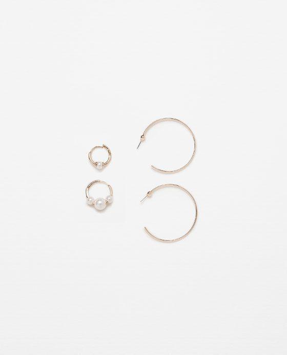 Pendientes zara perlas