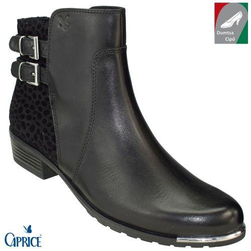 ac625afc33 Caprice női bőr bokacsizma 9-25321-27 019 fekete kombi | Dumtsa Cipő |  Pinterest