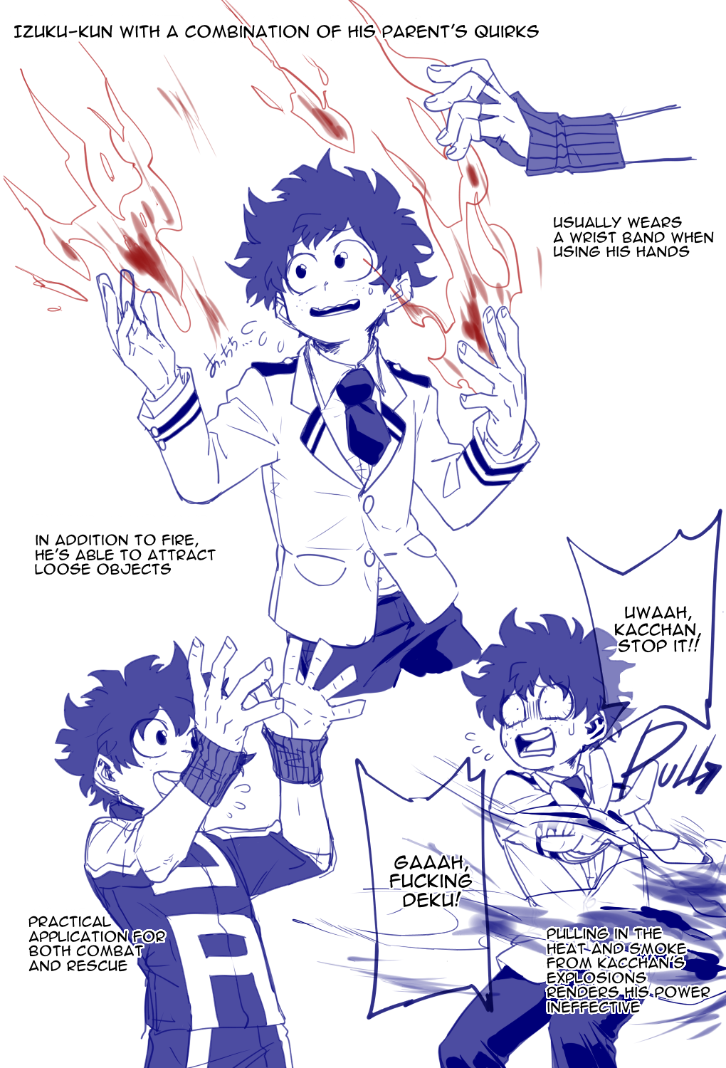 This is amazing! Also cute because Todo plus Kacchan have fire in