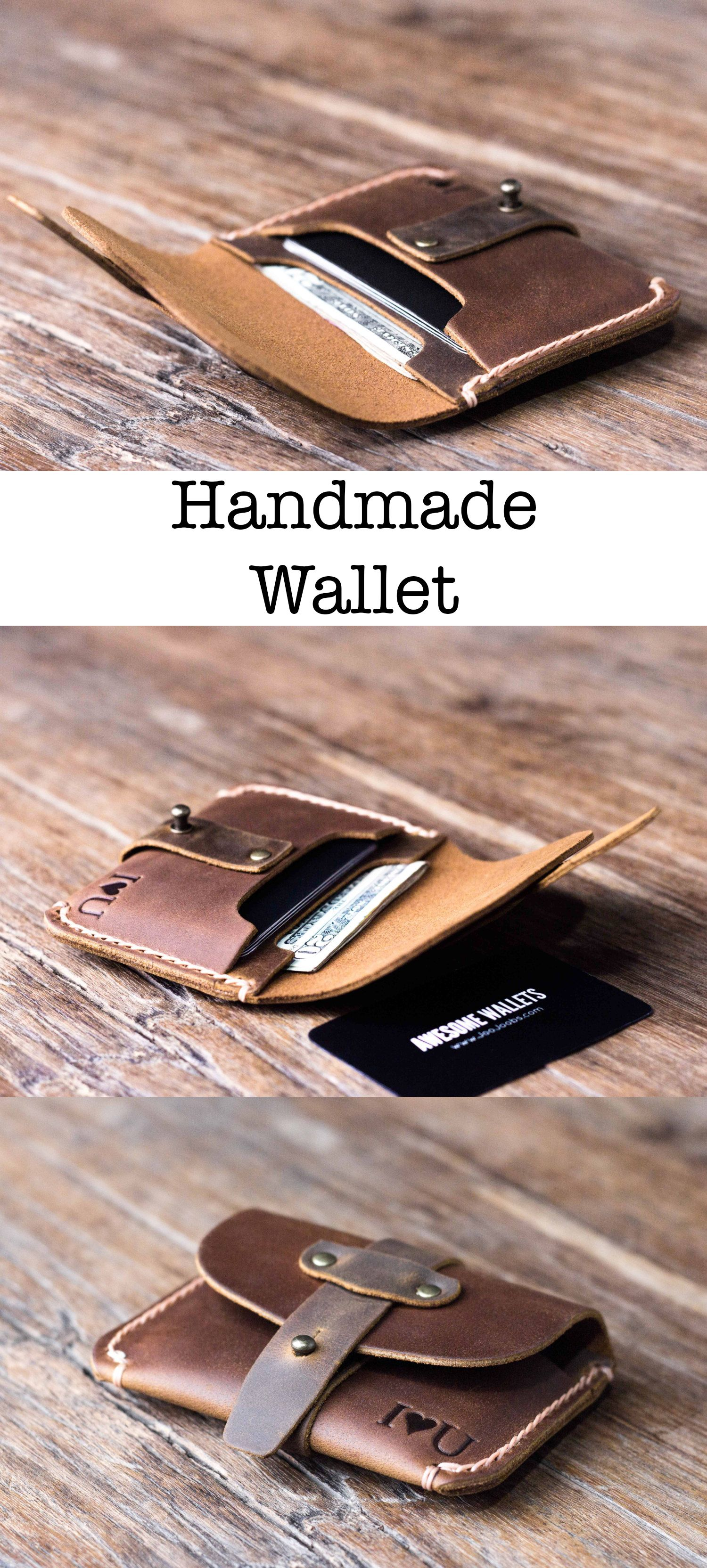 9c6915b874c438 Handmade Wallet. JooJoobs is a super popular Etsy shop specializing in  making handmade leather products