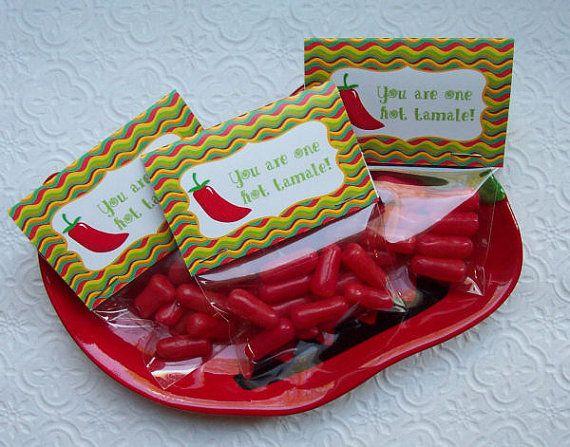 Printable Cinco De Mayo Hot Tamale Mini Bag Toppers Etsy Hot Tamales Candy Bag Toppers Fun Treats