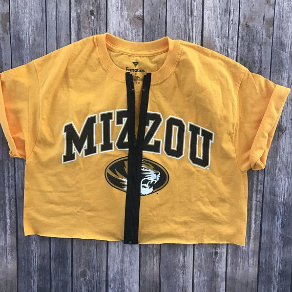 Mizzou Zipper Top / University of Missouri / Mizzou Tigers / Game Day Top / Tailgate Clothing / Crop Top / College Gift /