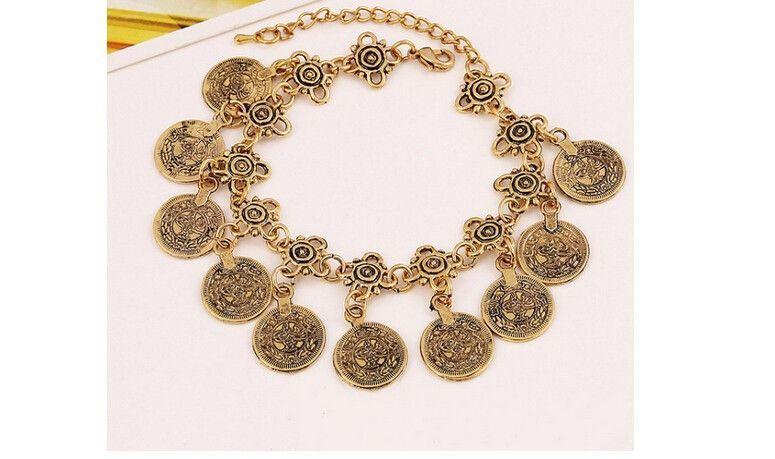 Coin Bracelet Adjustable / Handmade Fine Jewelry For Women