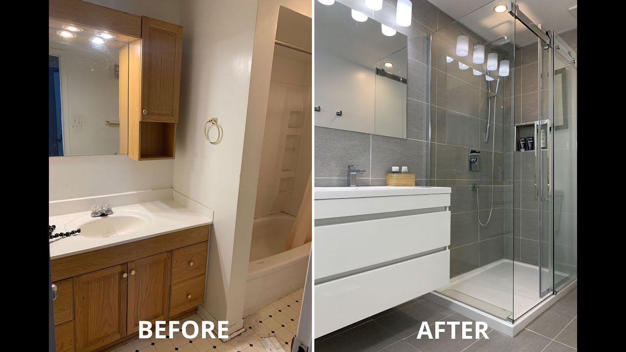 Amazing Diy Small Bathroom Remodel Renovation For Under 5k Timelapse Youtube Bathroom Remodel Small Diy Small Bathroom Diy Small Bathroom Remodel