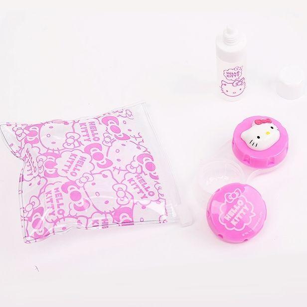 Sanrio Cute Hello Kitty Character Contact Lens Cases Set for Travel  Portable  HelloKitty d6d2e9ccf56a5
