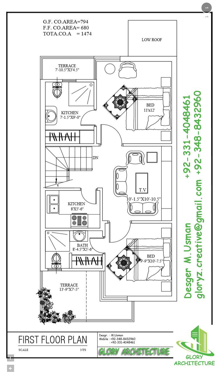 20 By 45 Ff Working Plans House Plans House House Map
