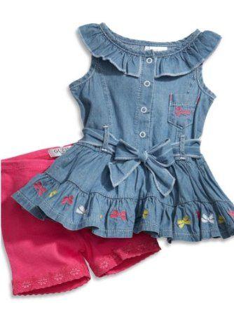 GUESS Baby Girls Ruffle Dress