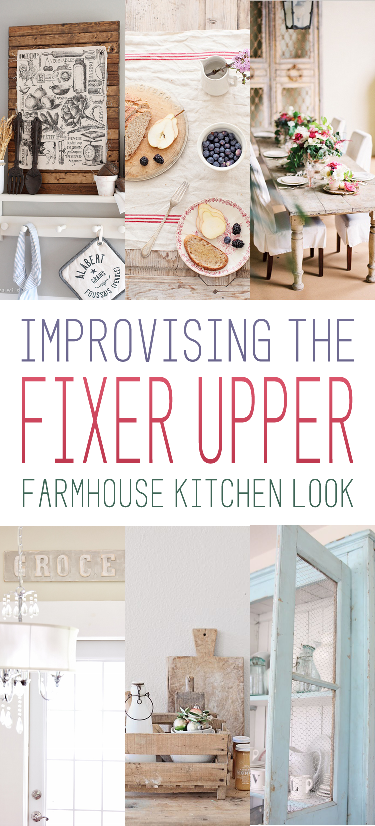 Fixer upper kitchen decor ideas - Improvising The Fixer Upper Farmhouse Kitchen Look The Cottage Market