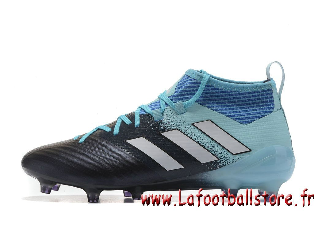 Adidas Homme Football Chaussure ACE 17+ PURECONTROL terrain souple Noire  Bleu - 1704060732 - Chaussures