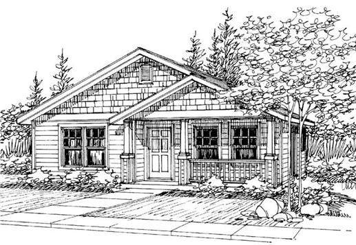 The Cleveland Home Plan Is A Single Story Craftsman Style House Magnificent Three Bedroom Bungalow Design Design Decoration