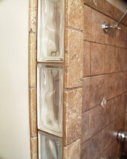 Bathroom With Glass Block Wall - Google Search