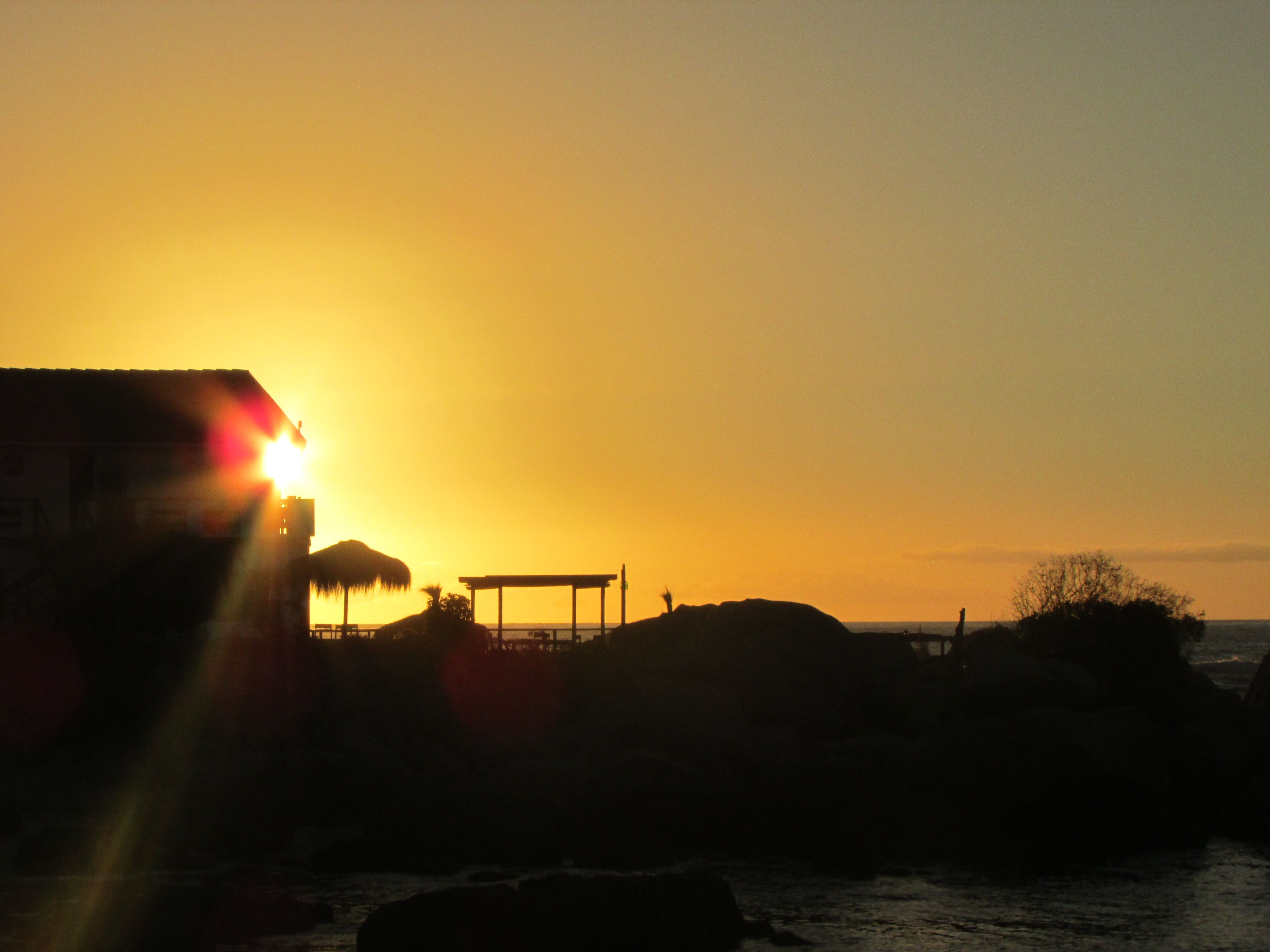 SUNSET, BEACH, MAITENCILLO, CHILE