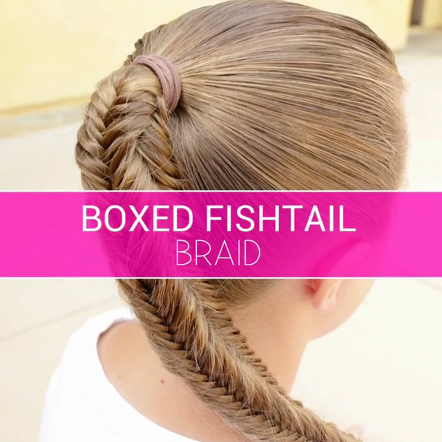 Boxed Fishtail Braid Video tutorial