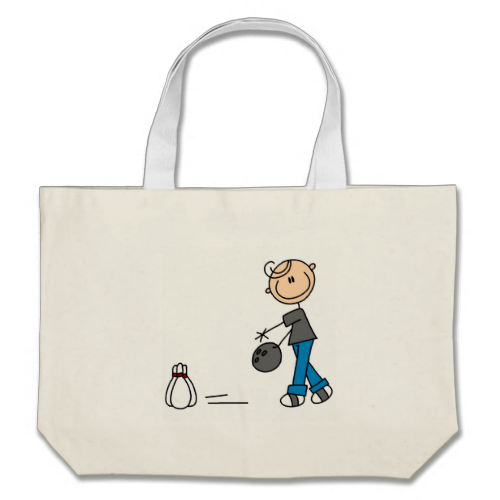 Stick Figure Bowling T-shirts and Gifts Bags
