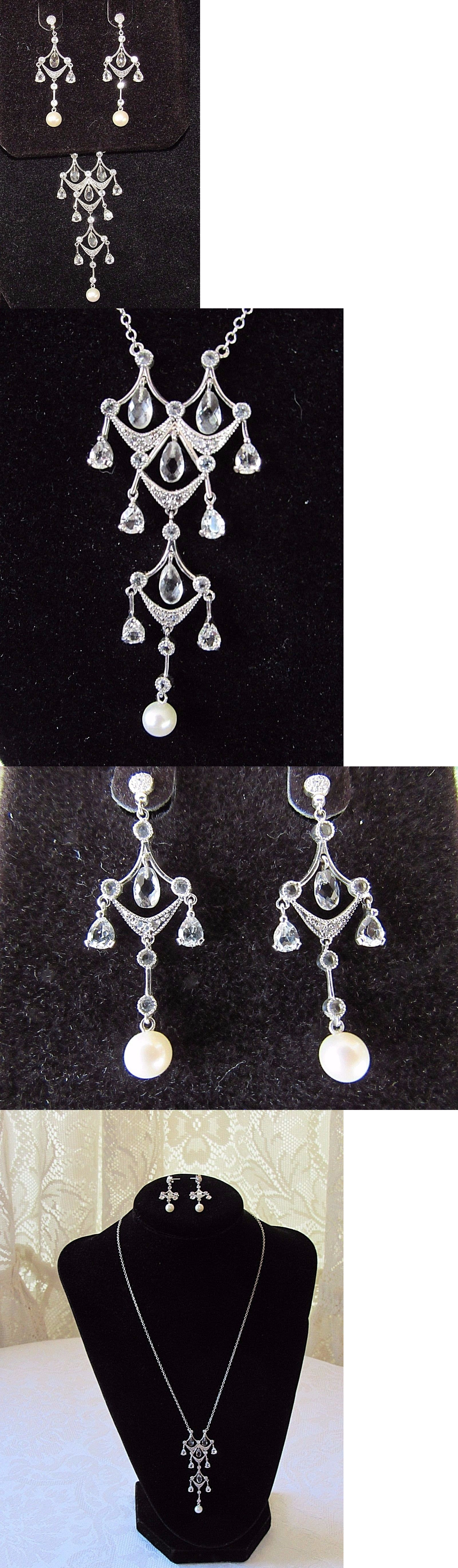 Diamonds and Gemstones 10K White Gold Diamond And Pearl