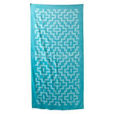 The Big One Geometric Beach Towel Beach Towel Client Gifts