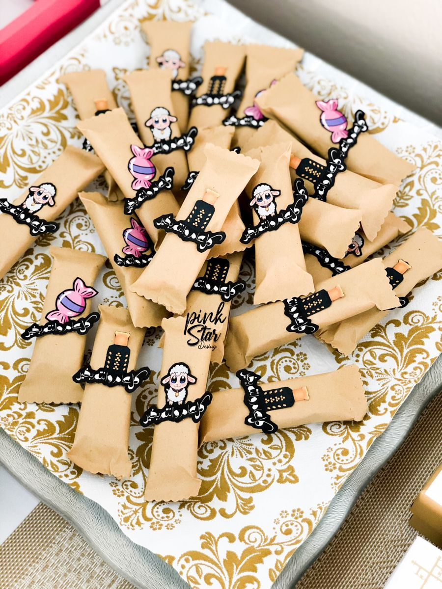 تغليفات ثيم كت كات بثيم عيد الاضحى Food Sugar Cookie Pink Stars