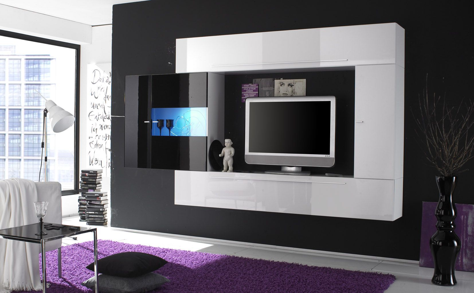 Furniture Stunningly Impressive TV Wall Cabinet Designs High Quality Contem
