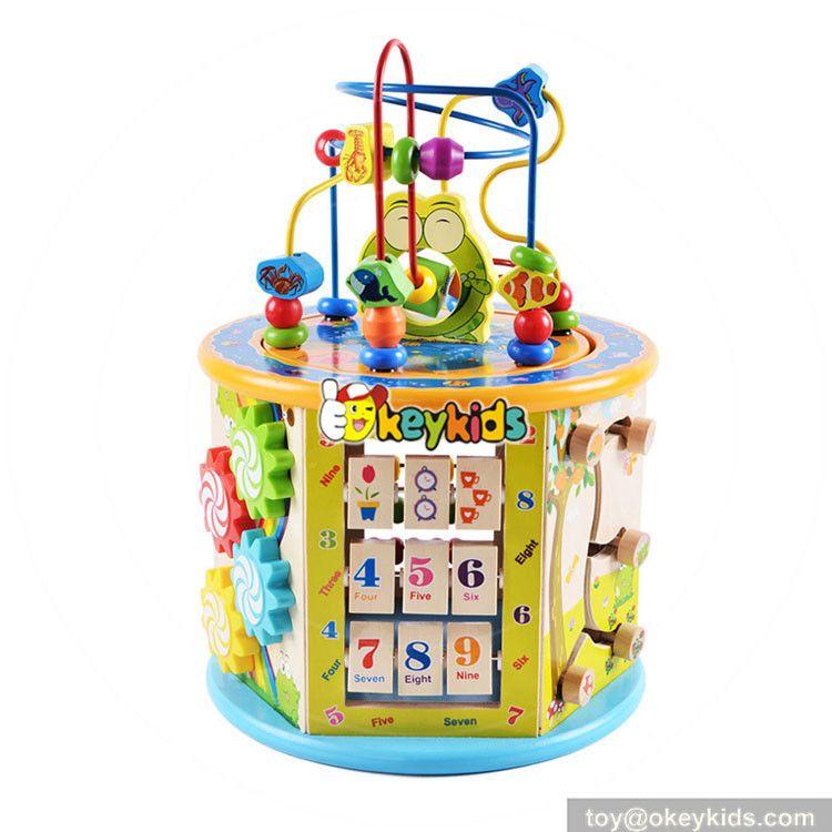 Okeykids Best Kindergarten Wooden Activity Cube Toy For Toddler