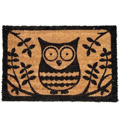 Cute Owl Door Mat 8 95 Black Printed Design Home Accessory Modern Www Prettymaison Co Uk 01353 665141