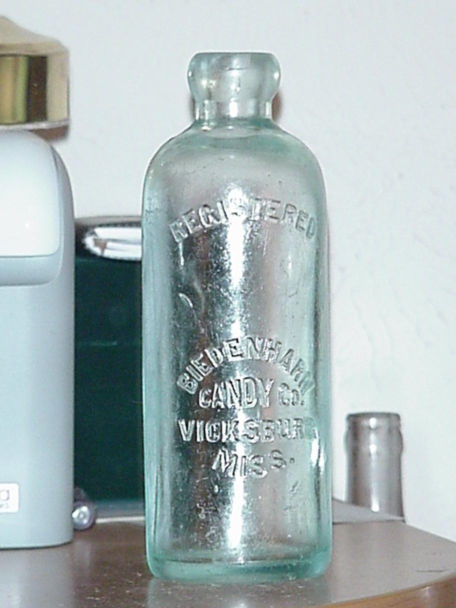 0c84424b6eb1 Original Biedenharn Candy Co Coca Cola Hutchinson Hutch Soda Water Coke  Bottle