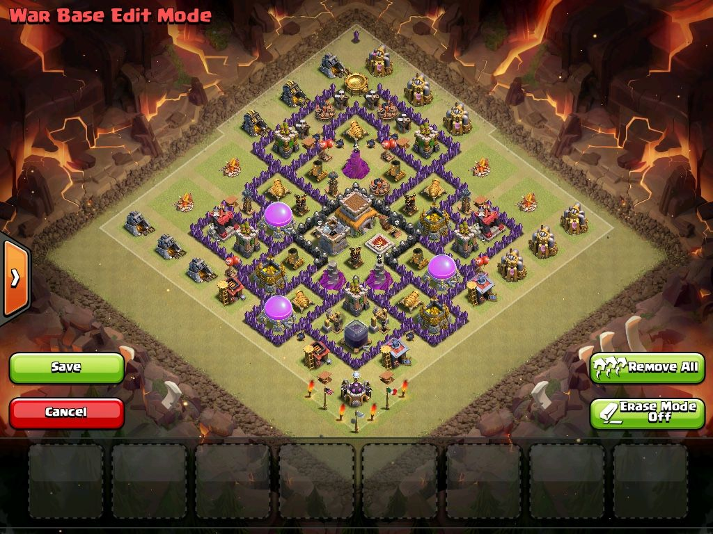 clash of clans town hall 8 war base allclash featured clash on
