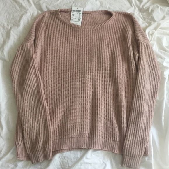 Brandy Melville Ollie Blush Pink Sweater | Brandy melville, Blush ...