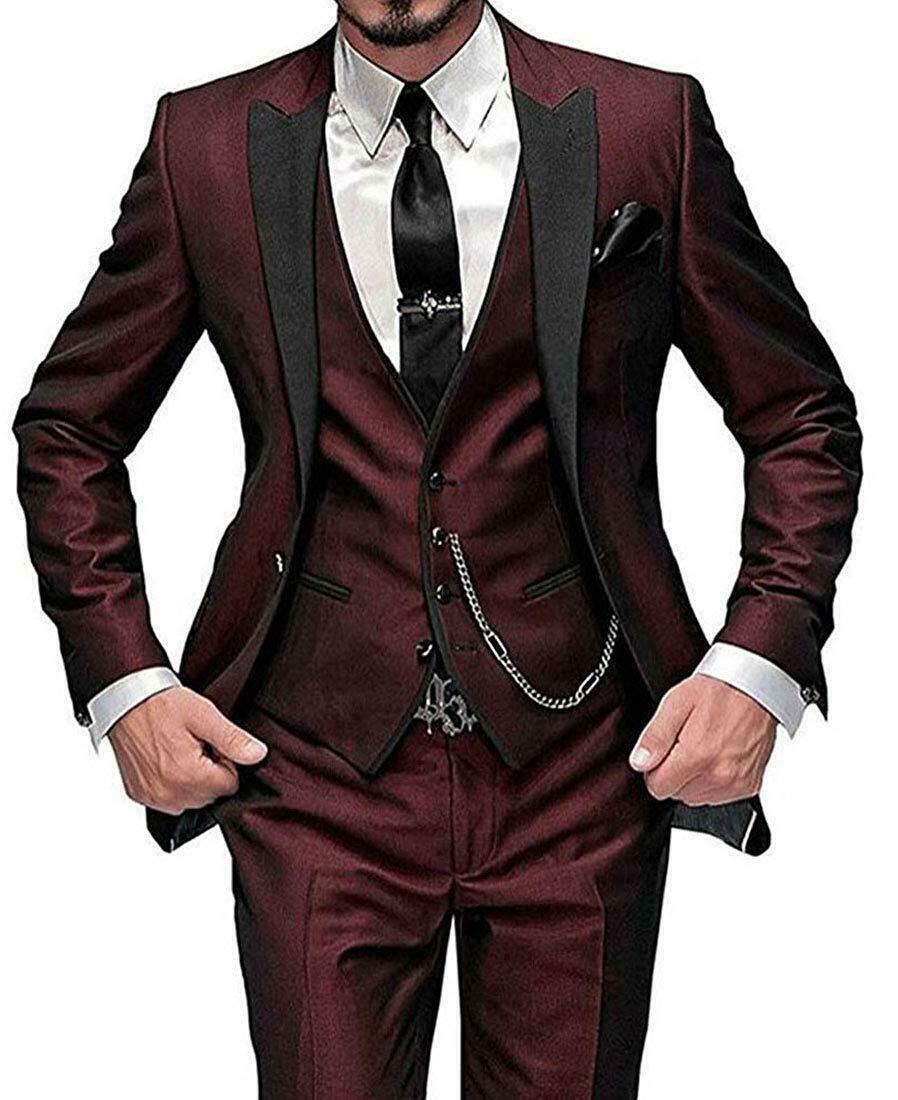 groom style in 2020 Green wedding suit, Burgundy suit