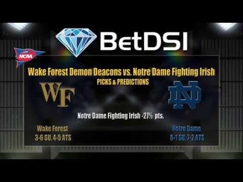 Wake Forrest Demon Deacons Vs Notre Dame Fighting Irish Odds