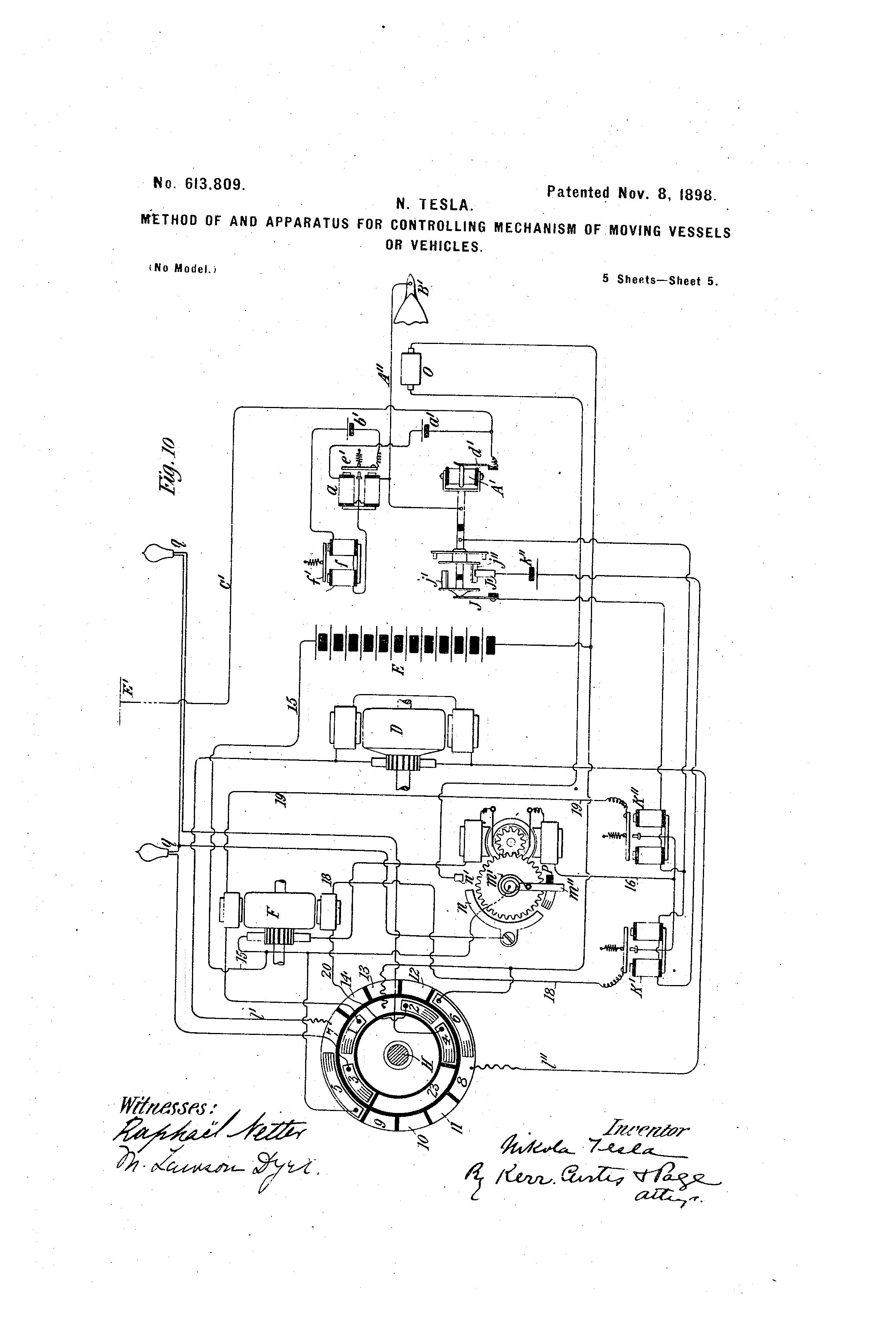 No 68 809 Patented Nov 8 I898 I N Tesla I Method Of