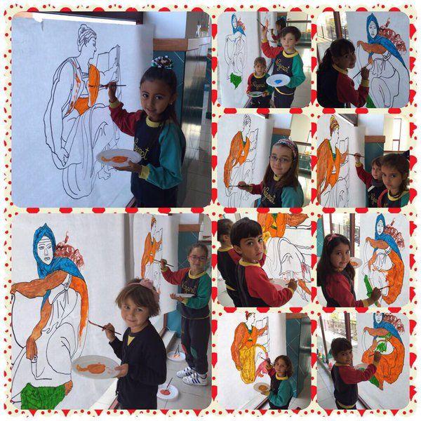 """Sagrada Familia auf Twitter: """"5 años: Hoy nuestros niños pintan como Miguel Ángel en la Capilla Sixtina. https://t.co/Urk6v8a5F5"""""""