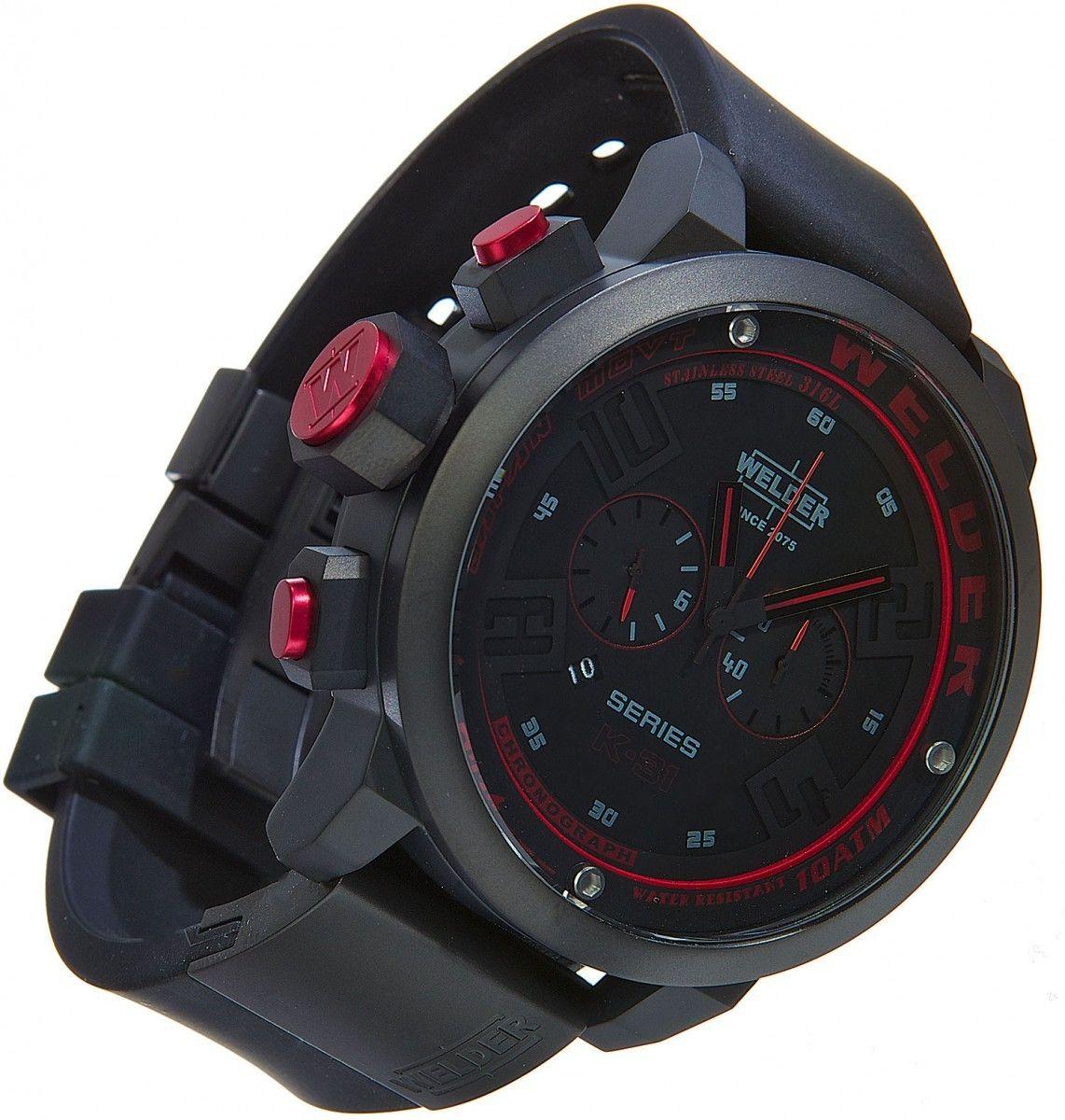 d8551dfed008 Welder K31 2602 Italo Fontana 50 mm Herrenuhr Gents Watches