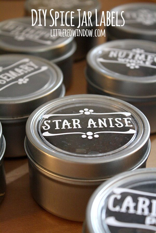 DIY Spice Jar Labels Silhouette Gets Organized Pinterest Spice