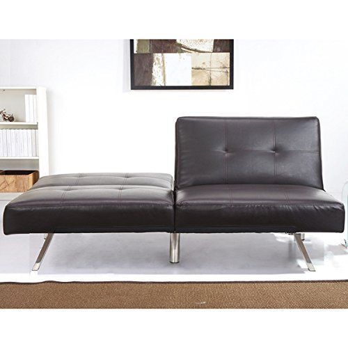 Contemporary Aspen Espresso Brown Leather Foldable Futon Sleeper Sofa Bed You Can Find Out More