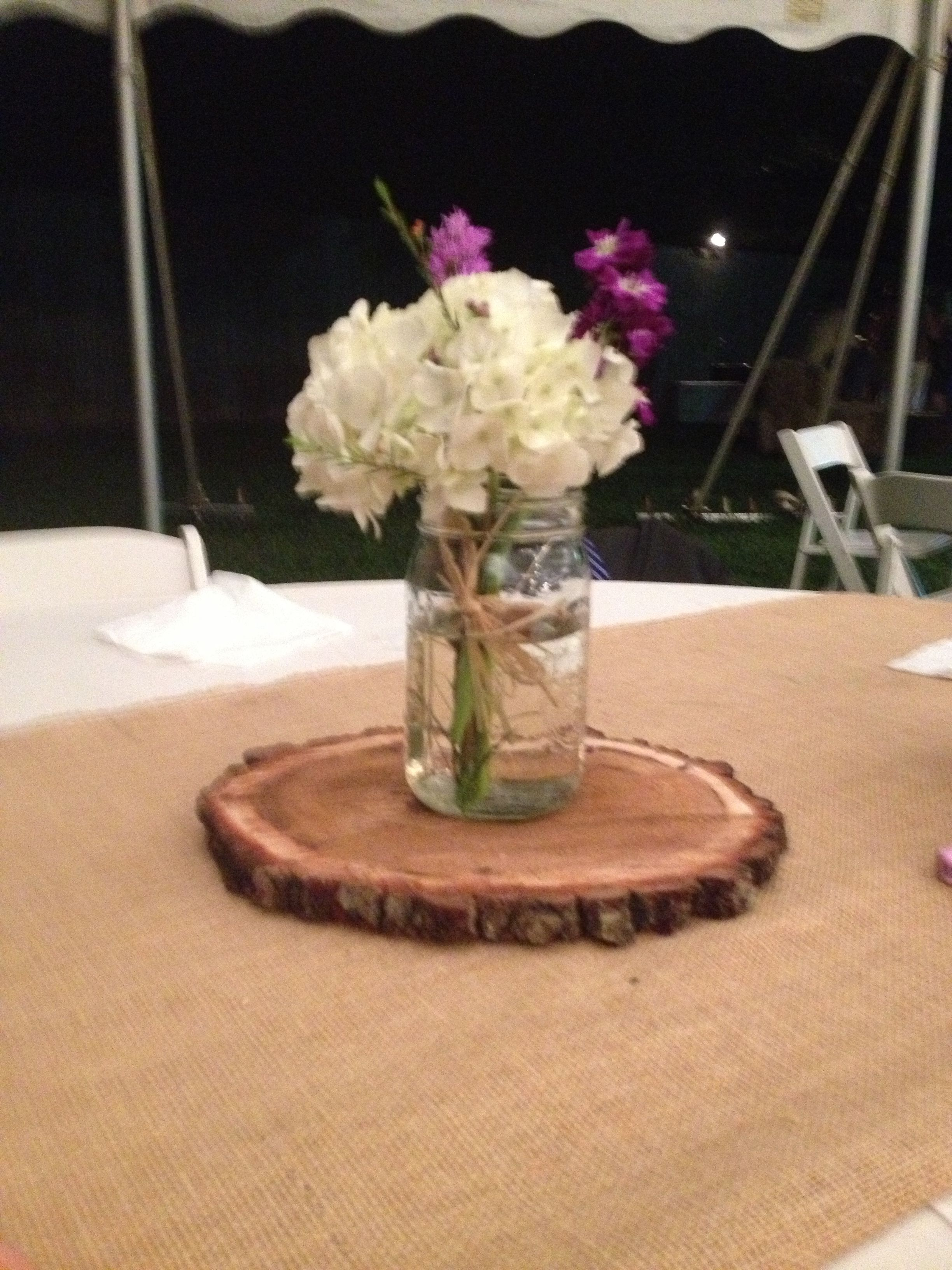 Very Simple Table Centerpiece Add A Few Votive Candles Around It Table Centerpieces Table Flowers Kitchen Table Centerpiece