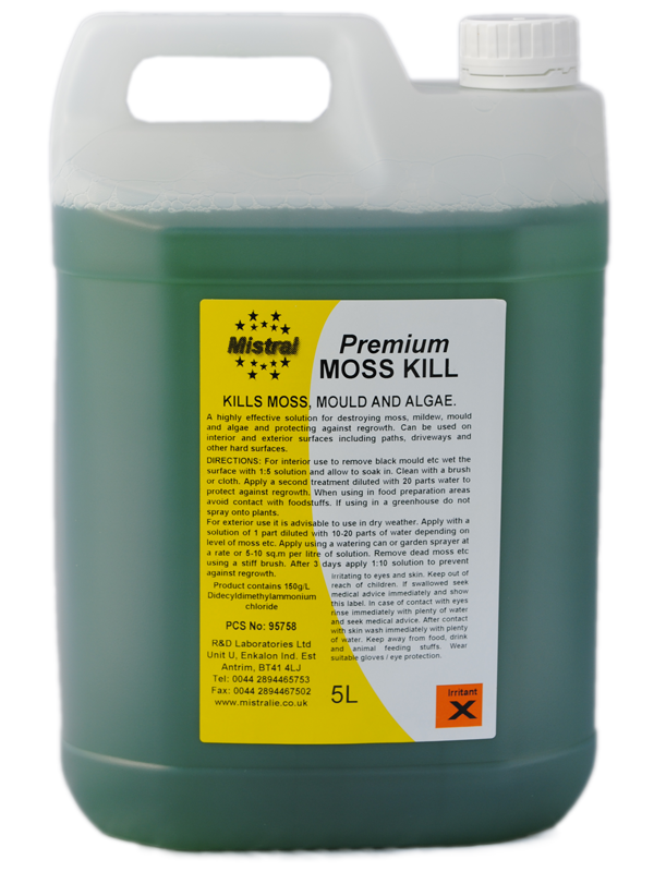 Moss Kill Concentrate Removes Moss And Algae On Roofs Drives Concrete Tarmac Green Cleaner Plant Protection Surface Cleaner