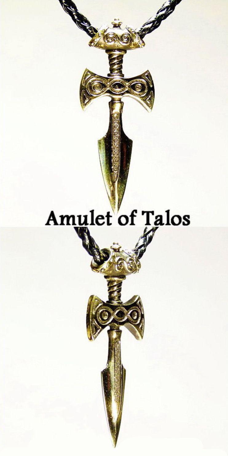 Amulet Of Talos amulet of talos dagger pendant for necklaceartbronzeshop