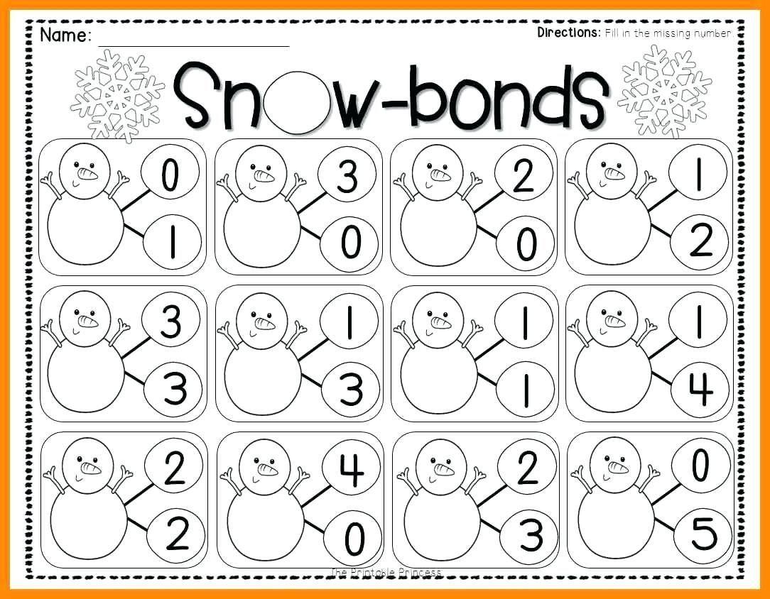 Number Bonds Worksheets Kindergarten In