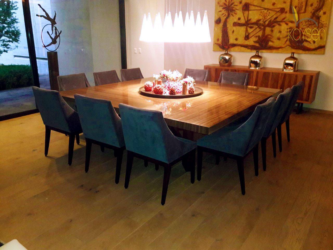 Comedor cuadrado de 9 sillas, una alternativa diferente al ...