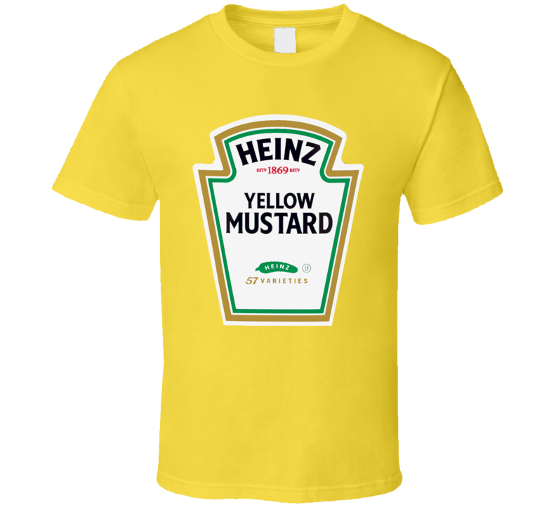 Heinz Yellow Mustard Ketchup Funny Couples Condiment Halloween T Shirt 8d52b77556e45
